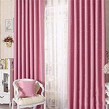 zalago Estrella cortina cortina cortina de cortina de cortina cortina 100* 250cm & # xff08; B X H & # xff09;, poliéster, Rosa, B 100 * H 250 CM