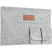 [Upgedatet] EasyAcc 13,3 Zoll MacBook Air/Pro Retina/12,9 Zoll iPad Pro Laptop-Tasche Filz Sleeve Hülle Ultrabook - Grau