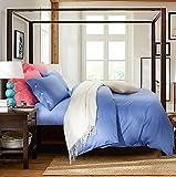 Longless Baumwolle, langstapelige Baumwolle, 4-Stück, Baumwolle, Bettwäsche, Bettdecke, Bettbezug, Bett, Kit
