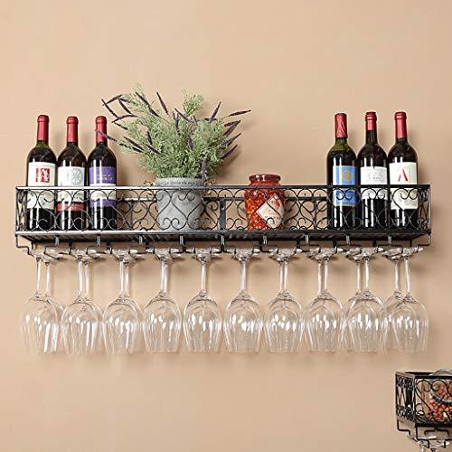 FPigSHS Schränke Weinschränke Wand Weinschrank Wand Weinregal Wandbehang Display-Ständer Weinschrank Weinkeller Bar Lagerregal Regal Mehrere Flaschen Lagerregal (Farbe : A, größe : 100 * 25CM) - 25 Flasche Weinkeller