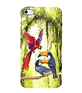 PrintVisa Flying Bird Birds 3D Hard Polycarbonate Designer Back Case Cover for Apple iPhone 4S