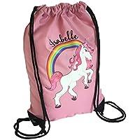 Personalised Kids PINK BAG Unicorn Drawstring Swimming, School, PE Bag For Girls