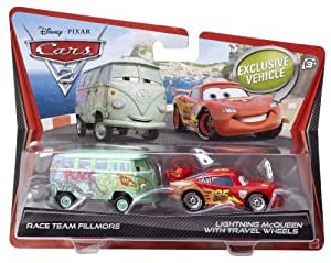 cars v2839 voiture miniature cars 2 flash mc queen equipe de course fillmore amazon. Black Bedroom Furniture Sets. Home Design Ideas