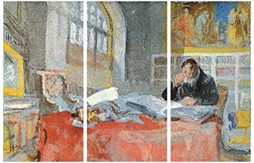 1art1 58275 Joseph William Turner - Turner In Seinem Atelier, 1835-1837, 3-Teilig Poster Leinwandbild Auf Keilrahmen 180 x 120 cm