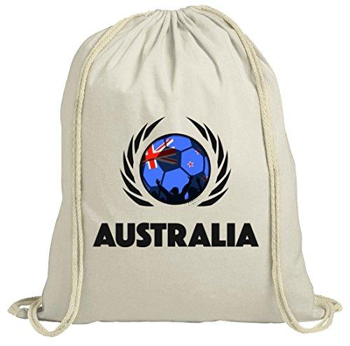 Australia Soccer Fussball WM Fanfest Gruppen Fan natur Turnbeutel Gym Bag Fußball Australien Natur