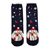 LHWY Weihnachtsstrümpfe für Damen Weihnachten Strümpfe Elch Weihnachtsmann Baumwollsocken Multi-Color Damen Winter Socken Frauen Teenager Mädchen (B)