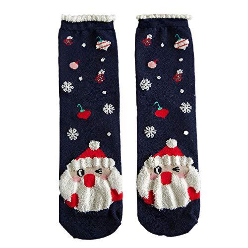 (Sunnyadrain Socken Herren & Damen Baumwoll Druck Kniestrümpfe Weihnachts Baumwolle lässige weiche atmungsaktive warme Socken)
