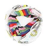 CODELLO PEANUTS Snoopy LOOP Streifen Loop-Schal grau rosa 82063704 (Hellblau)