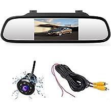 4,3 pulgadas espejo monitor coche de respaldo del sistema Vista trasera 8 LED de visión nocturna impermeable Mini cámara de vídeo 12 V coche auto asistencia de aparcamiento