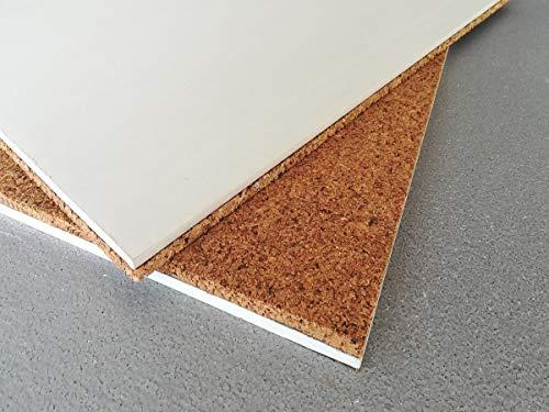 10 Pannelli Sughero+cartongesso 120x100x3 cm Cappotto interno isolamento termico acustico pannello accoppiato