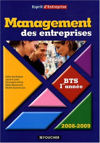 Management des entreprises BTS 1e année