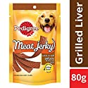 Pedigree Meat Jerky Adult Dog Treats, Grilled Liver Flavour - 80 g Pouch