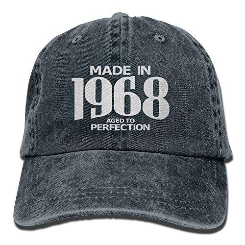 Preisvergleich Produktbild Warm Aged to Perfection 1968 50th Birthday Hipster Unisex Denim Jeans Adjustable Baseball Hat Hip-Hop Cap Gift for Men Women