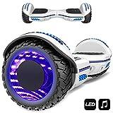 Markboard gyropode 6.5 Pouces Bluetooth MS6, Gyropode avec Pneu à LED de Couleur, Smart Scooter...