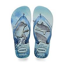 Havaianas Unisex's Conservation International Flip Flops, ICE Blue, 6/7 UK