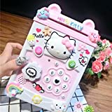 Electronic ATM salvadanai Hellokit risparmiare denaro salvadanaio moneta scatola con serratura & codice segreto per sbloccare per password Great gift Toy, Pink
