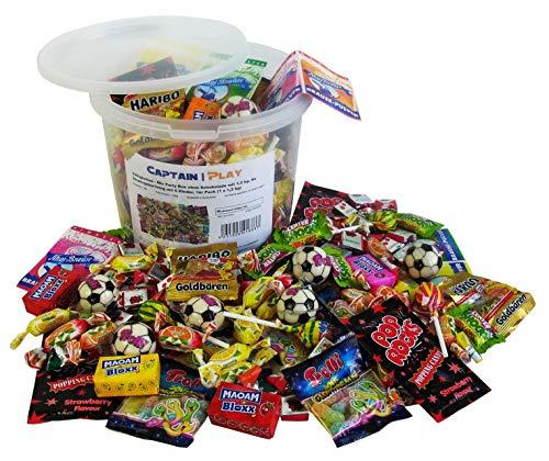 Süßigkeiten - Mix Party Box ohne Schokolade mit 1,2kg, für Kindergeburtstag mit 6 Kinder, 1er Pack (1 x 1,2 kg)