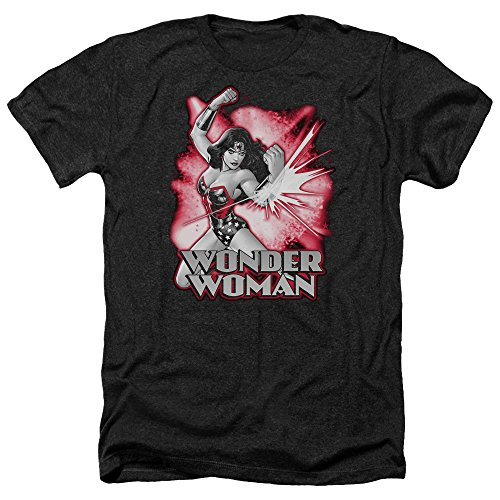 Trevco Men's JLA Justice League Wonder Woman Heather T-Shirt