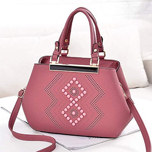 Lixibei Frauen Top Griff Tasche Umhängetasche Handtasche Geldbörse Classic Damen Umhängetasche Schutz Aufbewahrungstasche,pink -