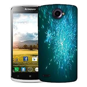 Snoogg blue fireworks backgrounnd Designer Protective Back Case Cover For Lenovo S920