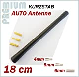 HYUNDAI KFZ Antennenstab INION® Universal 18 cm Kurz Stab Antenne mit M4 M5 M6 Adapter *** HYUNDAI --- ACCENT - ATOS - ELANTRA - GETZ - i10 - i20 - i30 - i40 - i50 - ix20 - ix35 - ix55 - TUCSON - SONATA - MATRIX - SANTA FE - TERACAN --- UKW - FM - Kurzstab PKW Dachantenne