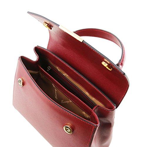 40d27c10d0d8b ... Tuscany Leather TL Bag - Kleine Bauletto Tasche aus Saffiano Leder -  TL141628 (Schwarz) ...