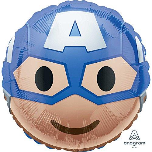 Amscan International 3636601Captain America Emoji-Folienballon (Captain America-einladungen)