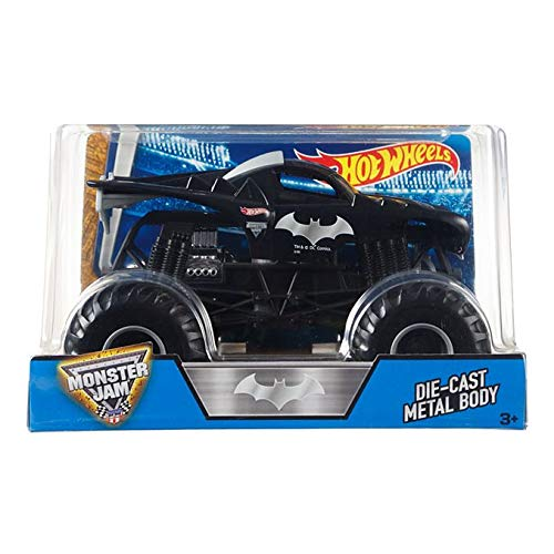 Mattel Hot Wheels Monster Jam Batman Die-Cast Vehicle, 1:24 Scale
