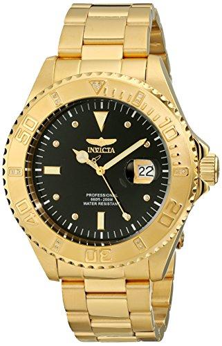Invicta Pro Diver - 15286 Orologio da Polso, Analogico, Uomo, Cinturino Acciaio Inossidabile, Oro