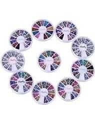 Cheeky Lot de 30 boîtes de strass pour ongles Multicolore