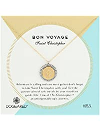 "Dogeared Bon Voyage Saint Christopher  2-Tone Saint Chain Necklace, Gold, 18"" + 2"" Extension"