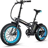 Addmotor - Motan - Bicicleta eléctrica plegable montaña Gran númatico 20¨para todo terreno 500