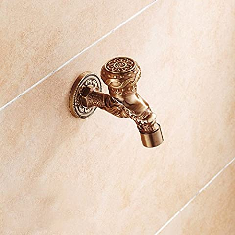 HAIHAHA All copper antique taps into the wall then cold tap, carved dragon design)