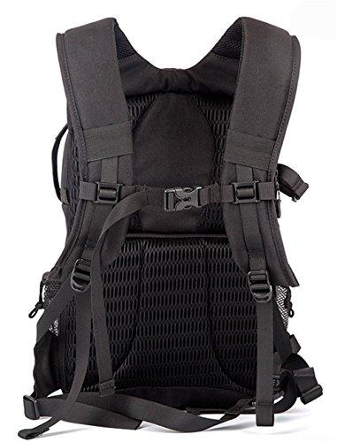 Z&HXborsa a tracolla fotocamera reflex borsa Fotografia all'aperto multifunzionale impermeabile , black , external dimensions 25*14*43cm Black