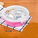 Lunch Box Sport Zubehör Design Artic–auslaufsicher Behälter für Lebensmittel–Ideal Bento Box für Ihren Fitness Ernährung Gesunde Lebensweise von kui-q, Silikon, rose, B