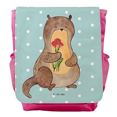 Mr. & Mrs. Panda Kids, Rucksack, Kinderrucksack Otter Blumenstrauß - Farbe Türkis Pastell (Türkis-blumenstrauß)