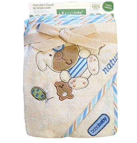 bobobaby-ragazzo-set-regalo-in-baby-asciugamano-con-cappuccio-76-x-76-cm-e-bavaglino-in-cotone-blu-c