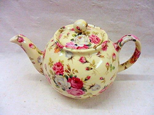 Heron Cross Pottery - 2-Tassen-Teekanne im Rosenkorb-Design