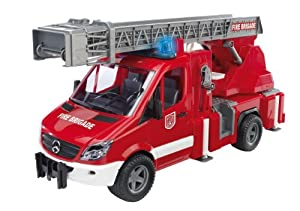 Bruder  Mercedes Benz - Camión de bomberos con luces, multicolor (Bruder 02532)