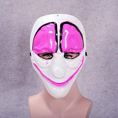 ZHANGDONGLAI Minch Clown Masken for Maskerade Party Scary Clowns Maske Zahltag 2 Halloween Horrible Mask (Color : DN)