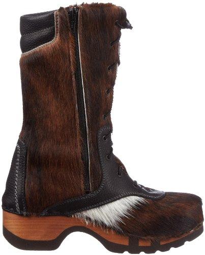 Woody RAMONA 9315/41 Damen Stiefel Braun (Fell Natur)
