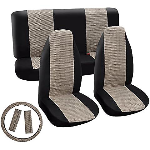 Universale Auto PowerOnline-Protezione sedili posteriori-Coprivolante a panchina posteriori