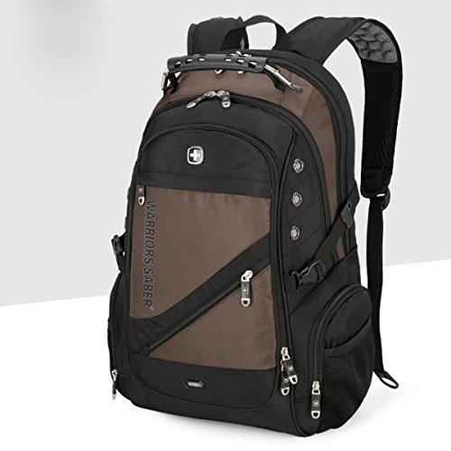 40L Zaino Unisex Zaino Pratico Daypack Per Viaggi E Sport All'aperto Durevole E Impermeabile Brown