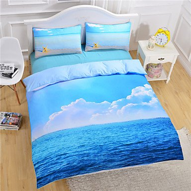 AIURLIFE Estrellas de mar y océano Duvet Cover Set camas 3D sistema Twin Full Queen , full