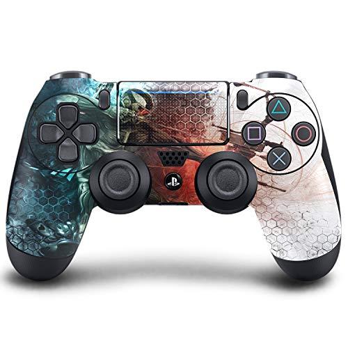 PS4 DualShock Manette sans Fil Pro Console – Manette PlayStation4 avec Grip Doux et Skin Version personnalisée Exclusive (PS4-Crysis 3)