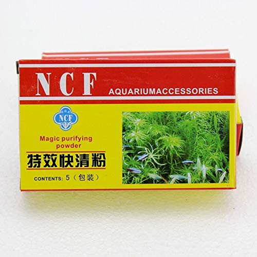 NCF Magic Purifying Powder   Aquarium Cloud Remover   5 Pouch in 1 Pack   Happy Fins