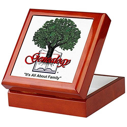CafePress – IT 'S ALL ABOUT Familie – Keepsake Box, fertig Hartholz Jewelry Box, Samt Gefüttert Memento Box