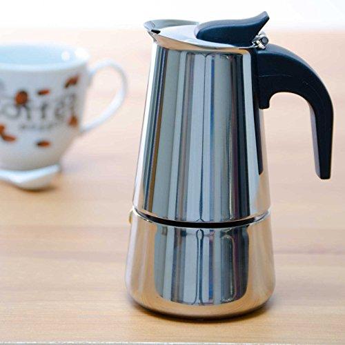 SIDCO ® Espressokocher Edelstahl 2 Tassen Espressomaschine Espresso Brüher Kanne - 2