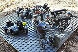 Modbrix 17003 ✠ Wehrmacht Kradschützen Truppe inkl. 3 x Motorrad Zündapp Ks 750 mit Beiwagen und 6 Custom Minifiguren, über 300 Teile ✠