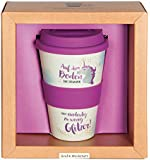 Grafik Werkstatt Deckel 60708 Kaffee-Becher, Bamboo-to-go, Magenta, 400 ml